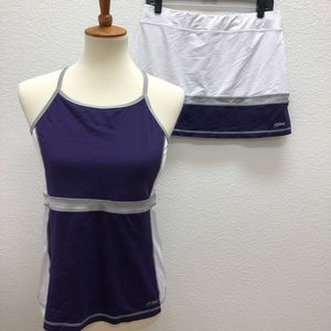 Sofibella Tennis 2pc Outfit Set Running Athletic